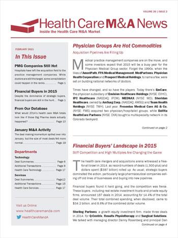 Health Care M&A News