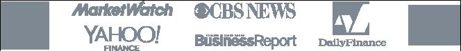 CNET, Market Watch, CBS News, Yahoo Finance, Business Report, Daily Finance, CNBC